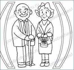 Эскиз поздравительной открытки ко дню пожилого человека 56